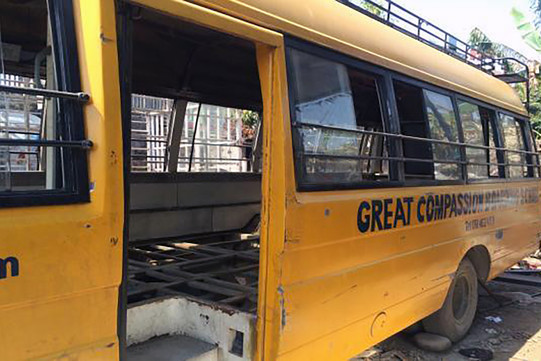 Unser alter Schulbus